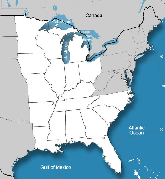 Southern State Map.Map 18 Middle And Southern States Of The United States Worksheet